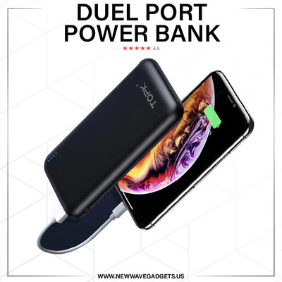 Duel Port-10000mAh Capacity Power Bank