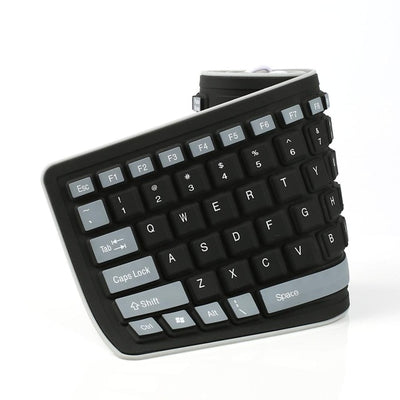 New Foldable Silicone Keyboard USB Wired Silicon Flexible Soft Waterproof Roll Up Silica Gel Keyboard for PC Laptop Notebook