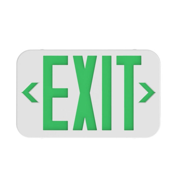BriteTech Emergency LED Exit Sign GREEN Model# EX-ABSUL94VO