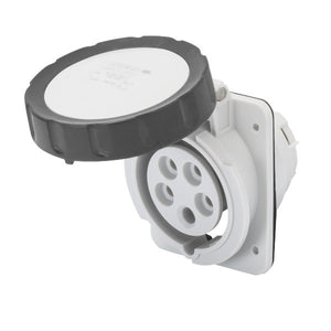 Geiwss 10° Angled Flush-Mounting Socket-Outlet HP- IP66/IP67-3P+E 32A 480-500V 50/60HZ Model# GW62244H