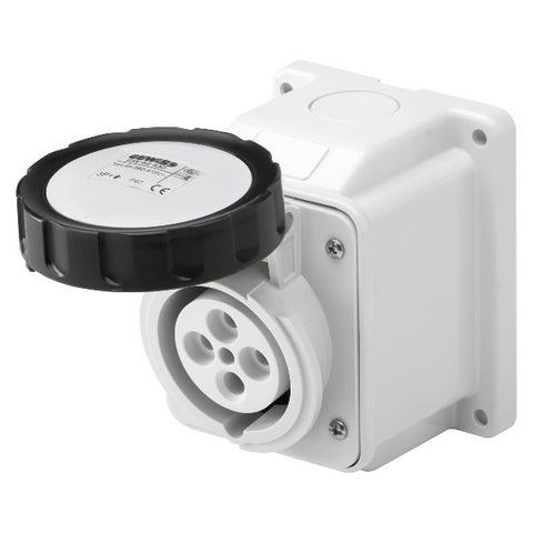 Gewiss 10° Angled Surface-Mounting Socket-Outlet - IP67 - 3P+E 16A 480-500V 50/60HZ Model# GW62432