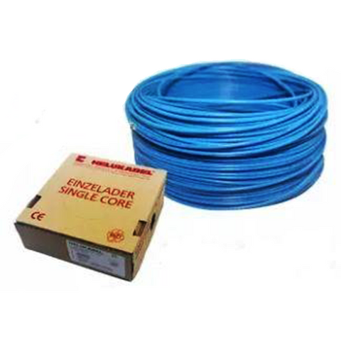 HELUKABEL HO7 V-K PVC insulated wire, single core, 4.0mm², 450/750V, blue Model# 29163