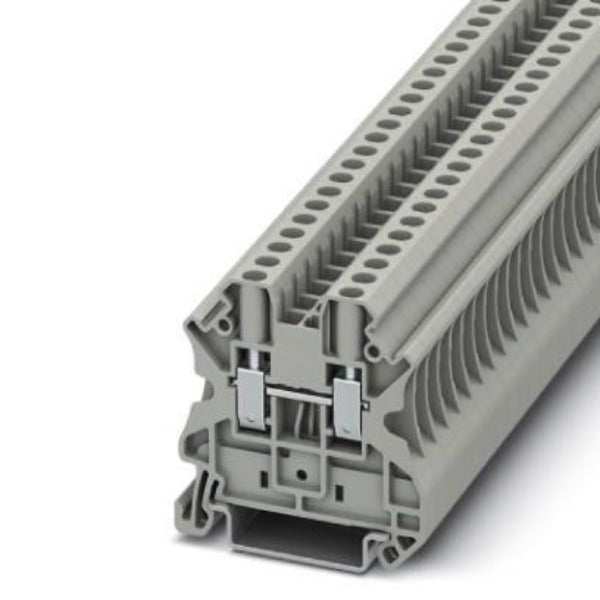 Phoenix Contact Terminal Block. Clipline Series, Cable Size: 0.14→6mm², Wire Size 26 →10 AWG Model# 3044102