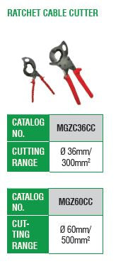 McGill Ratchet Cable Cutter Cutting Range: 60MM/500MM²(DIA.) Model# MGZ60CC