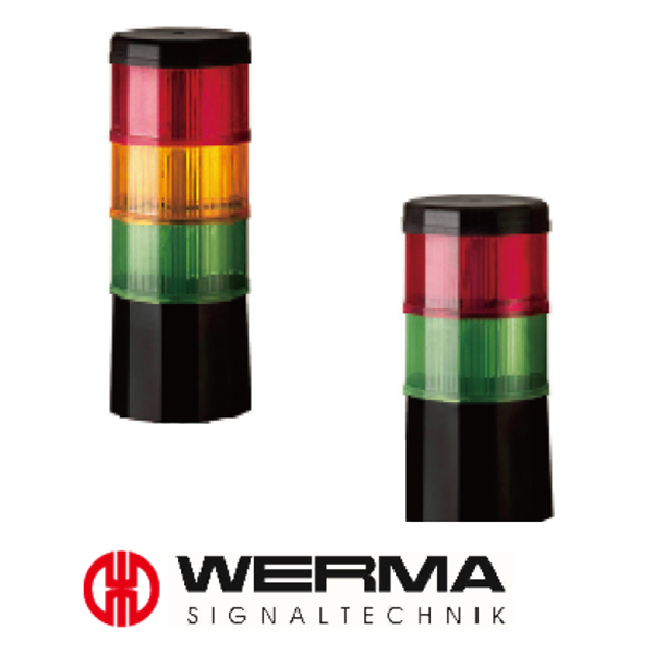 Werma LED Signal Tower Light CST60 LED Blinking Green, Yellow and Red Model# 696.109.75