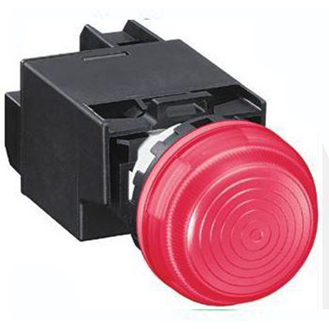 IDEC Pilot Light(LED), 22mm, Dome Transformer Type 115/120VAC, Red Model# YW1P-2EH22R
