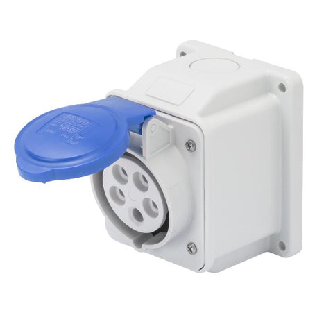 Gewiss 10° Angled Surface-Mounting Socket -Outlet - IP44 - 3P+E 32A 200-250V 50/60HZ Model# GW62416