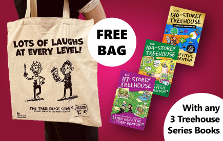 Free Treehouse Bag with any 3 Treehouse books