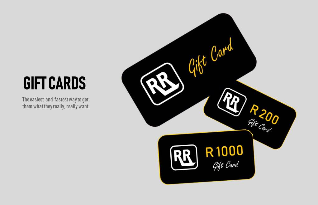 Gift Cards by Rebel Road. The easy and fast way to send a gift