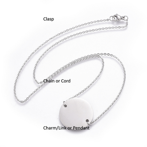 Guide to Necklace parts by rebelroad.co.za