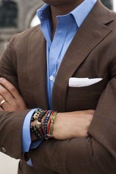 formal look wearing bracelets