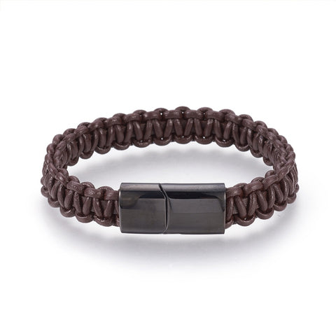 Brown braided cord bracelets online in South Africa