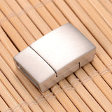12mm Matte Rectangular Stainless Magnetic Clasp