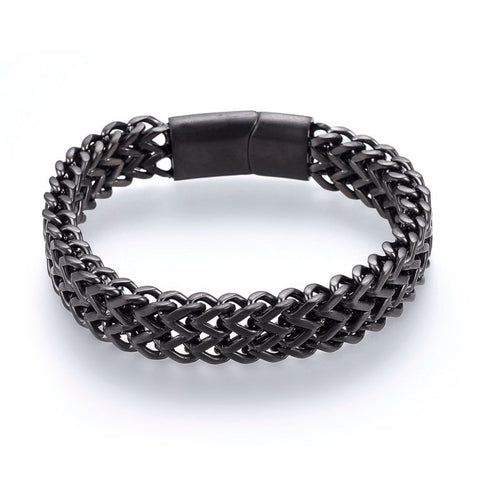 12mm Gunmetal Mesh Chain Bracelet