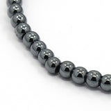 Magnetic Synthetic Hematite Bead Bracelet - Bracelets - Rebel Road