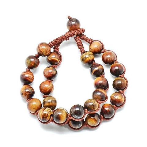 10mm Multi-Strand Tiger Eye Bead Bracelet