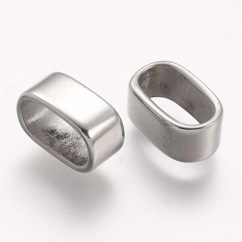 12*6 Polished Oval Engraved Slide Charm