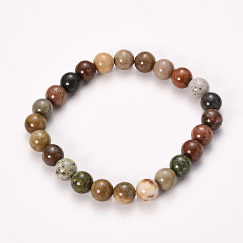 12mm Natural Gemstone Bead Bracelet