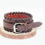 Wide Looped & Stitched Bracelet - Bracelets - Rebelroad.co.za