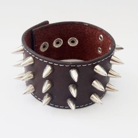 Brown Punk Goth Bracelet - Bracelets - Rebel Road