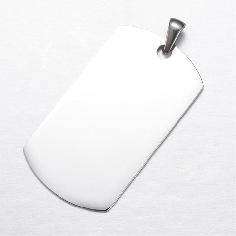 Silver Tag Pendant for Engraving - Pendants - Rebel Road
