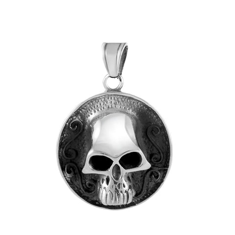 Round Skull Pendant - Pendants - Rebel Road