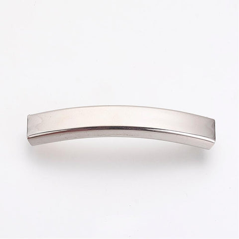 6mm Wide Curved Engraving Slide Charm