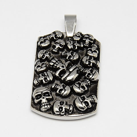Rectangle Skull Pendant - Pendants - Rebel Road