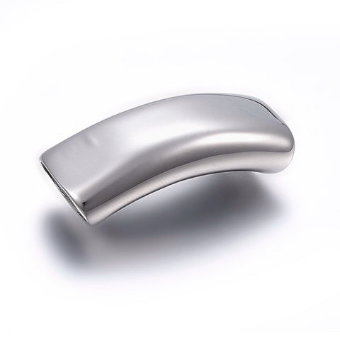 13mm Silver Curved Engravable Slide Charm