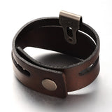 Wide Leather Bracelet with Brand - Bracelets - Rebel Road