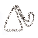 6mm Wide Faceted Curb Chain Necklace
