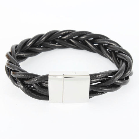 Wide Clasp Braided Bracelet - Bracelets - Rebelroad.co.za