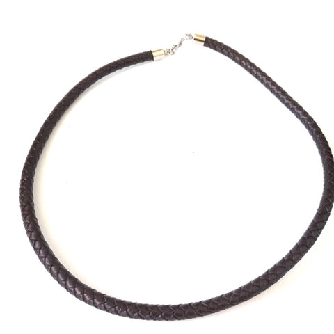 6mm Brown Bolo PU Leather Necklace
