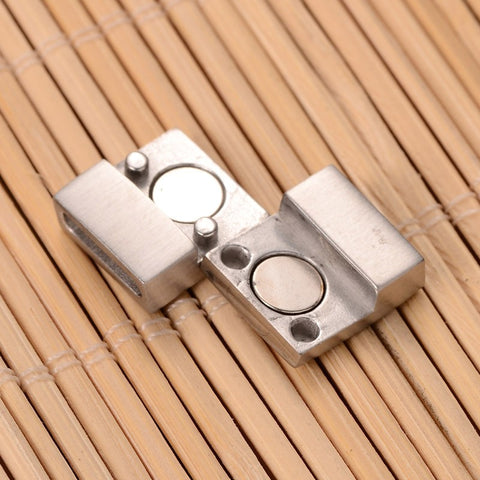 Matte Rectangular Stainless Magnetic Clasp