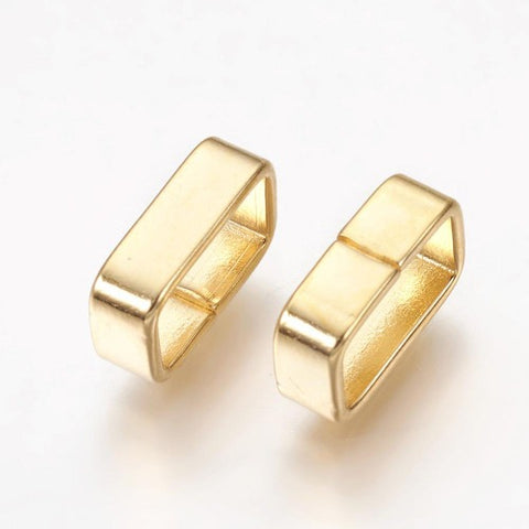 105mm Golden Rectangle Engravable Slide Charm from Rebelroad.co.za