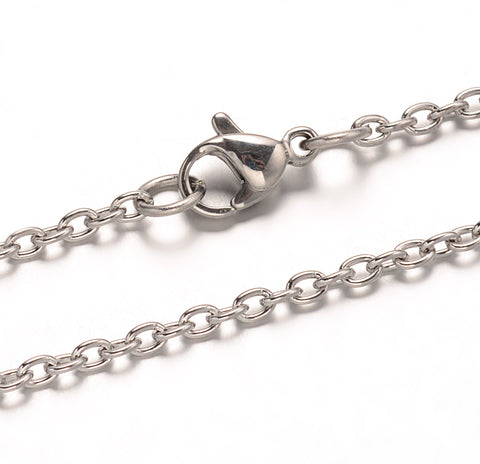 3mm Wide Cable Chain Necklace