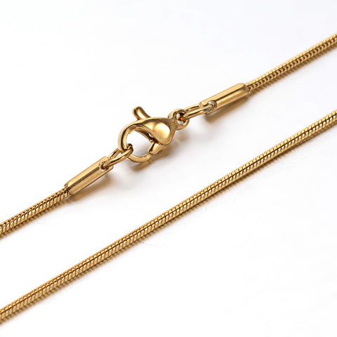 1.2mm Golden Snake Chain Necklace