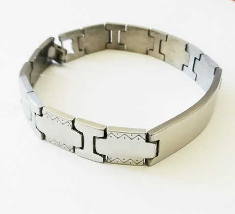 African Design ID Engravable Stainless Bracelet - Bracelets - Rebel Road