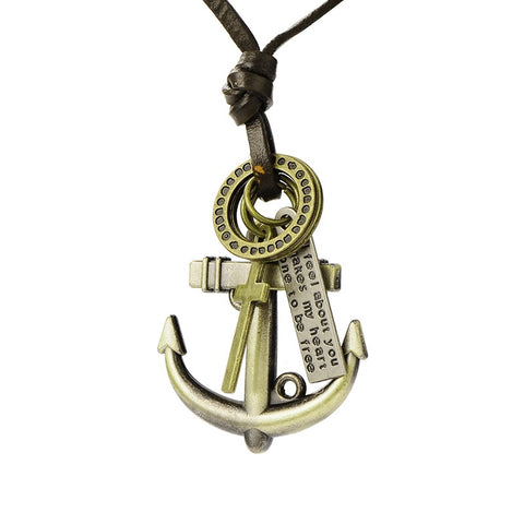 Anchor Pendant Necklace - Neckwear - Rebelroad.co.za