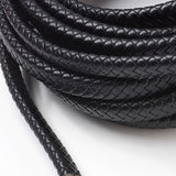 Black Oval Braided Bolo Cord -12mm*6mm