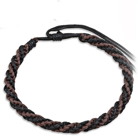 Black & Brown Crochet Friendship Bracelet - Bracelets - Rebelroad.co.za