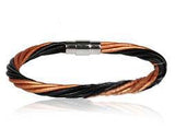 Black & Brown Twisted Cord Bracelet - Bracelets - Rebelroad.co.za