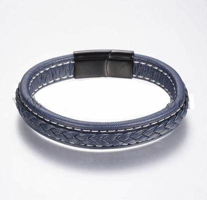 Blue Retro Leather Bracelet - Bracelets - Rebel Road