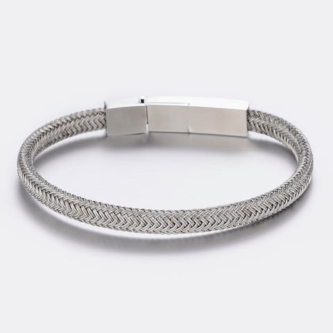 Braided Cable Stainless Steel Bracelet - Bracelets - Rebel Road