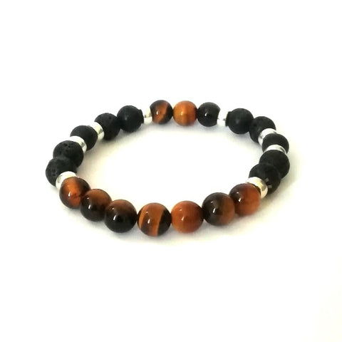 Brown Lava Bead Bracelet