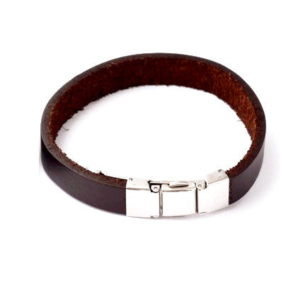 Plain Leather Bracelet - Bracelets - Rebel Road