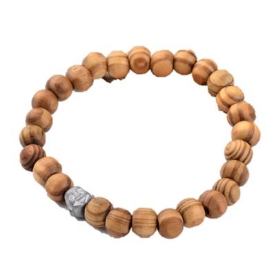 Buddha Wood Bead Bracelet - Bracelets - Rebelroad.co.za