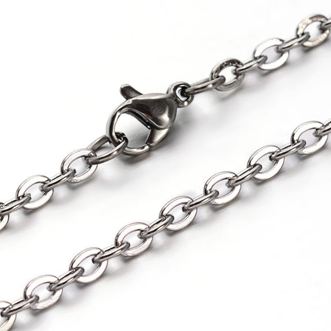 Cable Chain Necklace 4mm wide