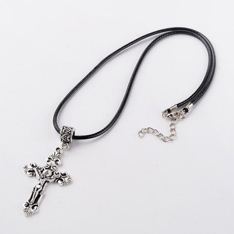 Celtic Cross on Leather cord Necklace - Neckwear - Rebelroad.co.za
