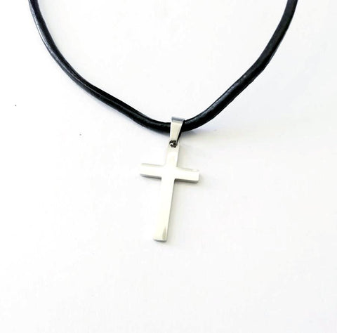 Classic Silver Cross Necklace - Neckwear - Rebelroad.co.za